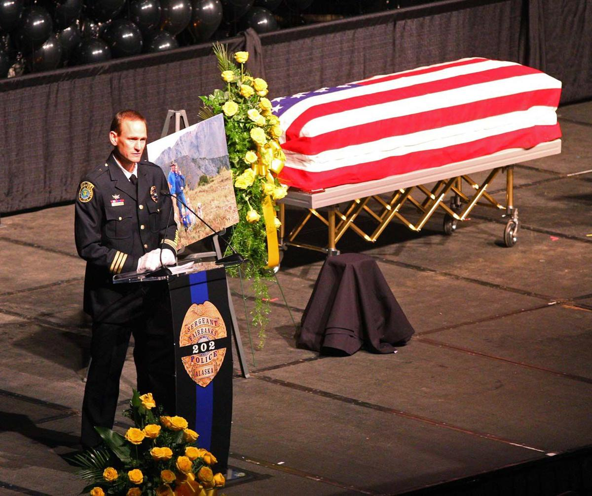 Hundreds turn out to honor fallen Fairbanks police officer