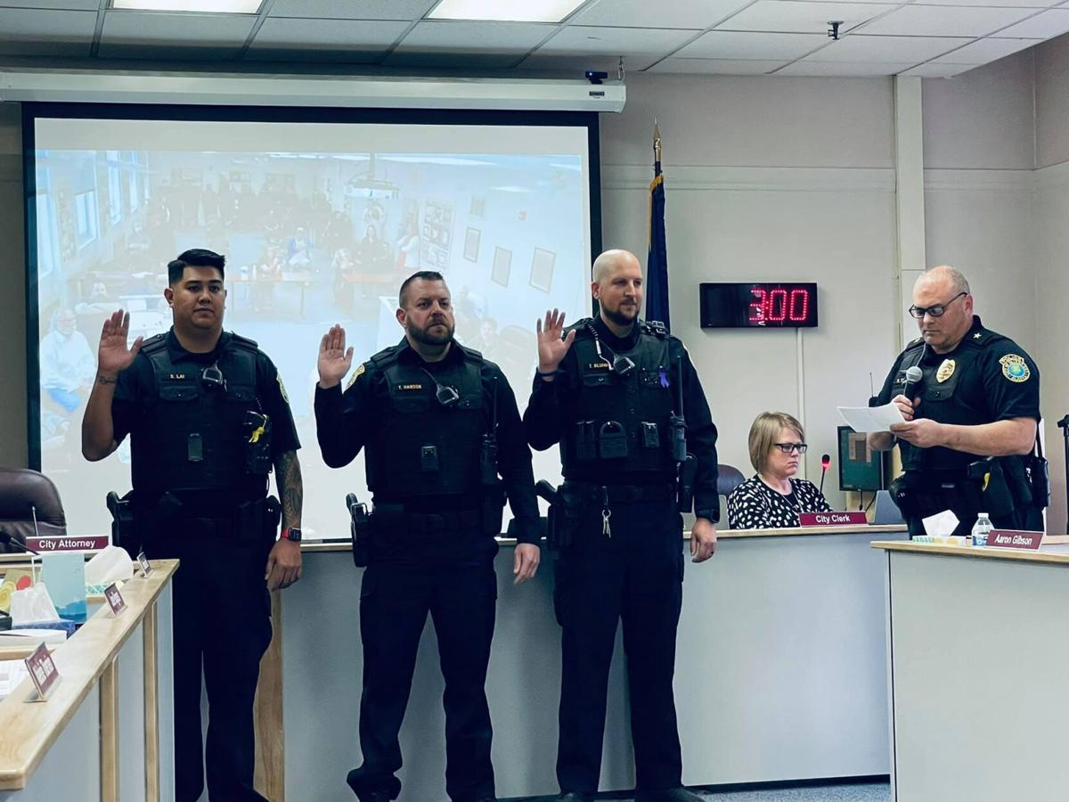 Officers take the oath