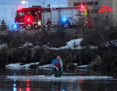 Fairbanks teen doesn't believe he was in danger on Chena River ice floe