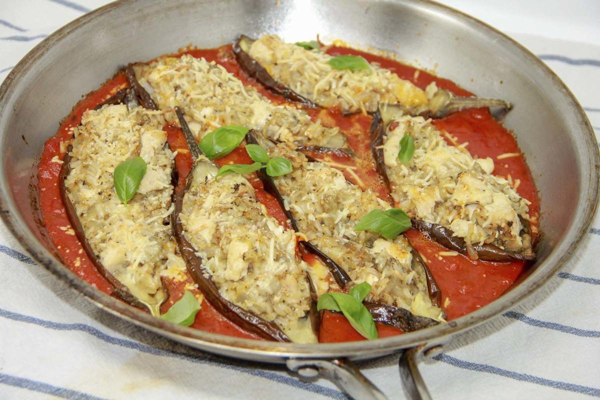 Try this one dish wonder an eggplant and chicken marinara for One dish wonders recipes