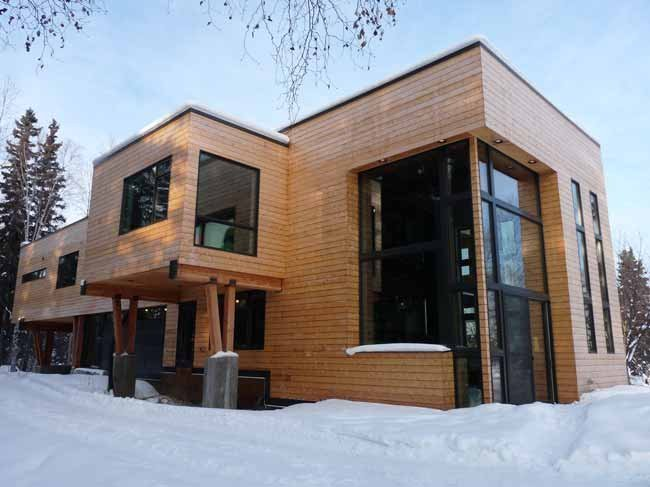 Modern Fairbanks: Architecture not limited to log cabins ... on Contemporary Siding  id=82876