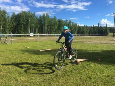 Youth mountain biking class