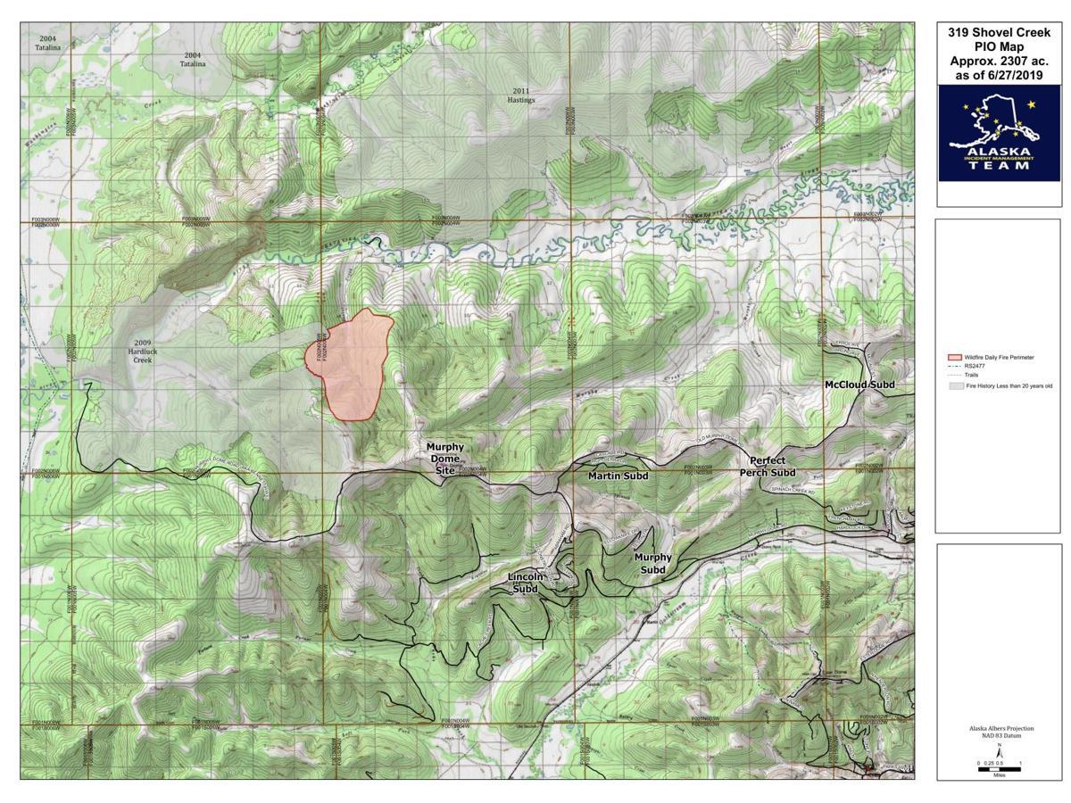 Shovel Creek Fire map 6.28.19