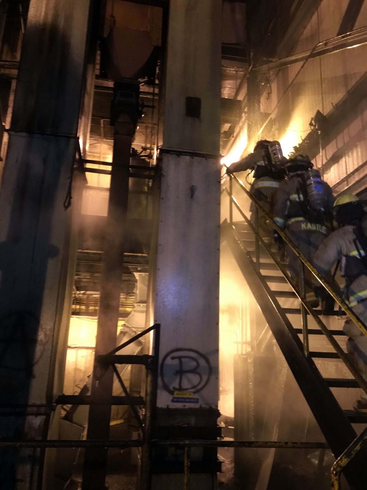 Coal dust fire