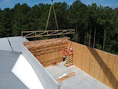 Fitnasium Wall Construction at RC Family YMCA