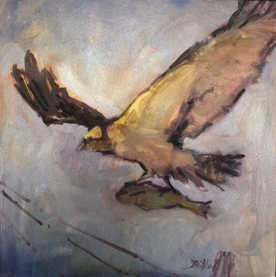 Osprey with Catch, by Nancy Brittle.  Media:  Oil on Canvas
