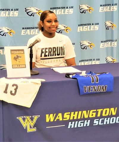 W & L senior, Makaila Veney signs her letter of intent to play volleyball at Ferrum College.