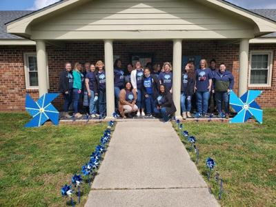 The Northumberland Department of Social Services placed pinwheels in front of their building to show their support of Child Abuse Prevention Month.