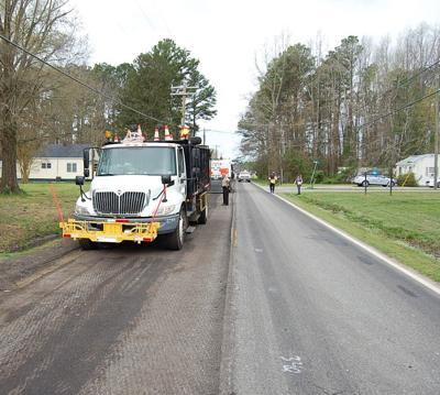 The work zone crew member was struck by a truck.