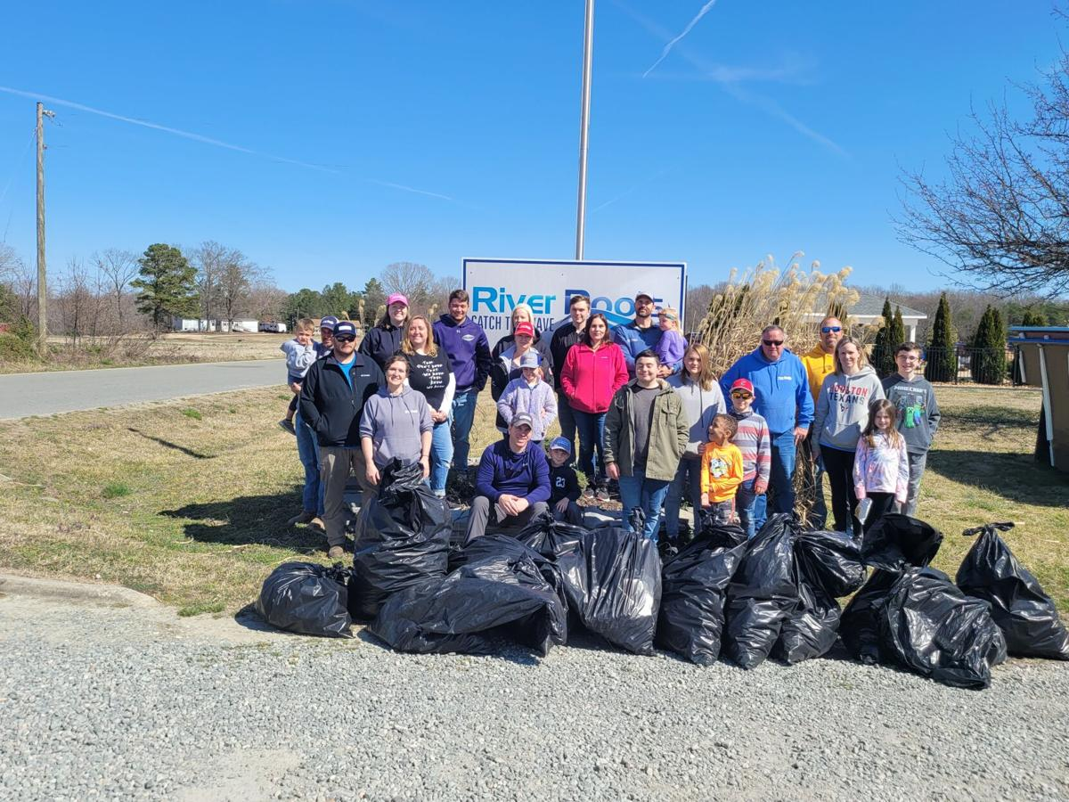 River Pools and Spas staff and their families came together to clean up and beautify Warsaw.