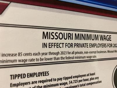 Missouri minimum wage set to raise on Jan. 1st.
