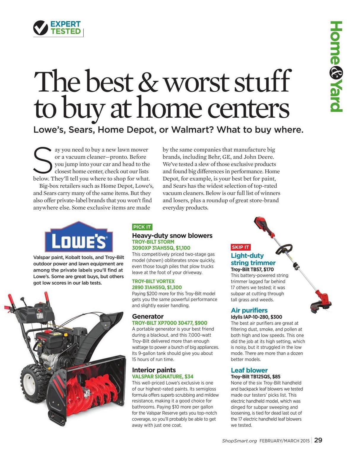 Consumer reports looks at best big box deals | Life