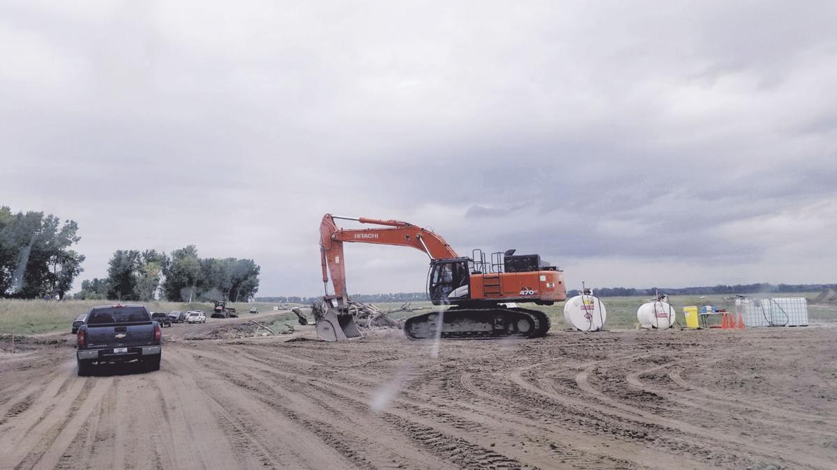 Work crews continued their tasks at repairs
