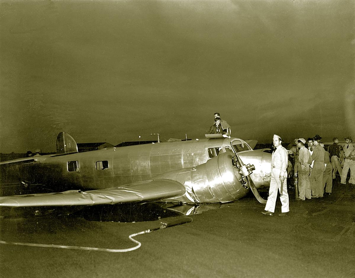 EARHART WORLD FLIGHT CRASH