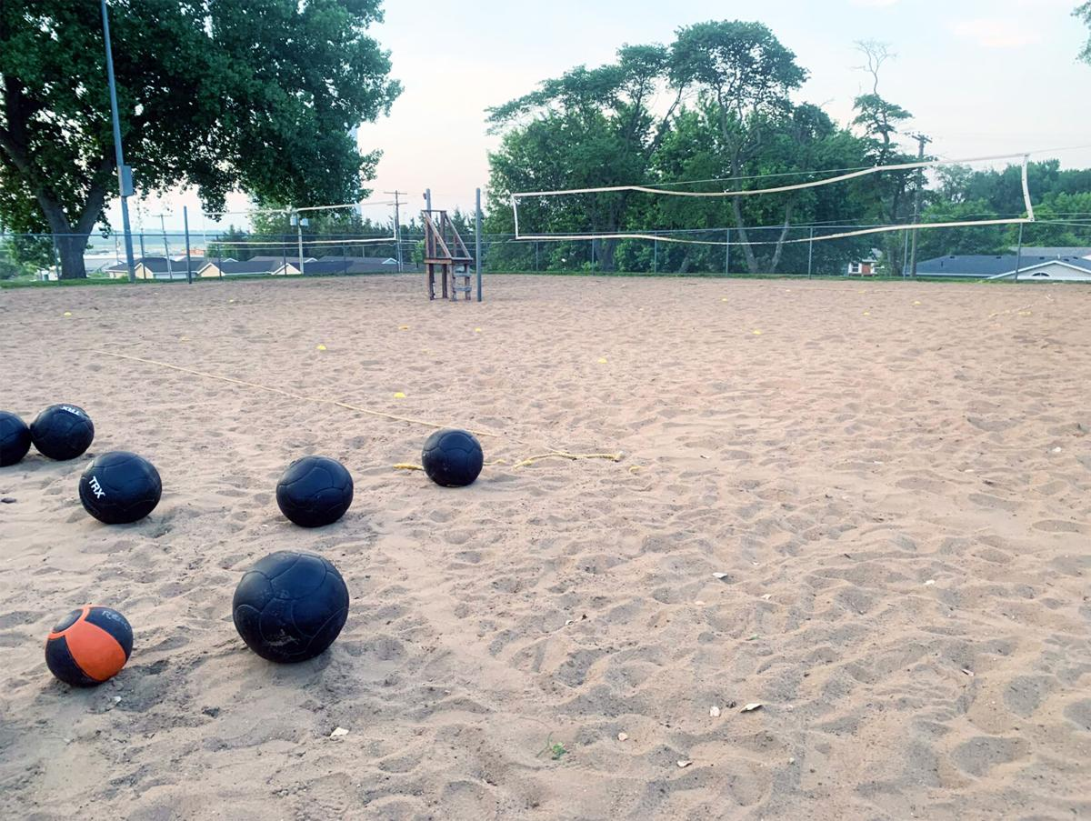 Maryville football sand workouts