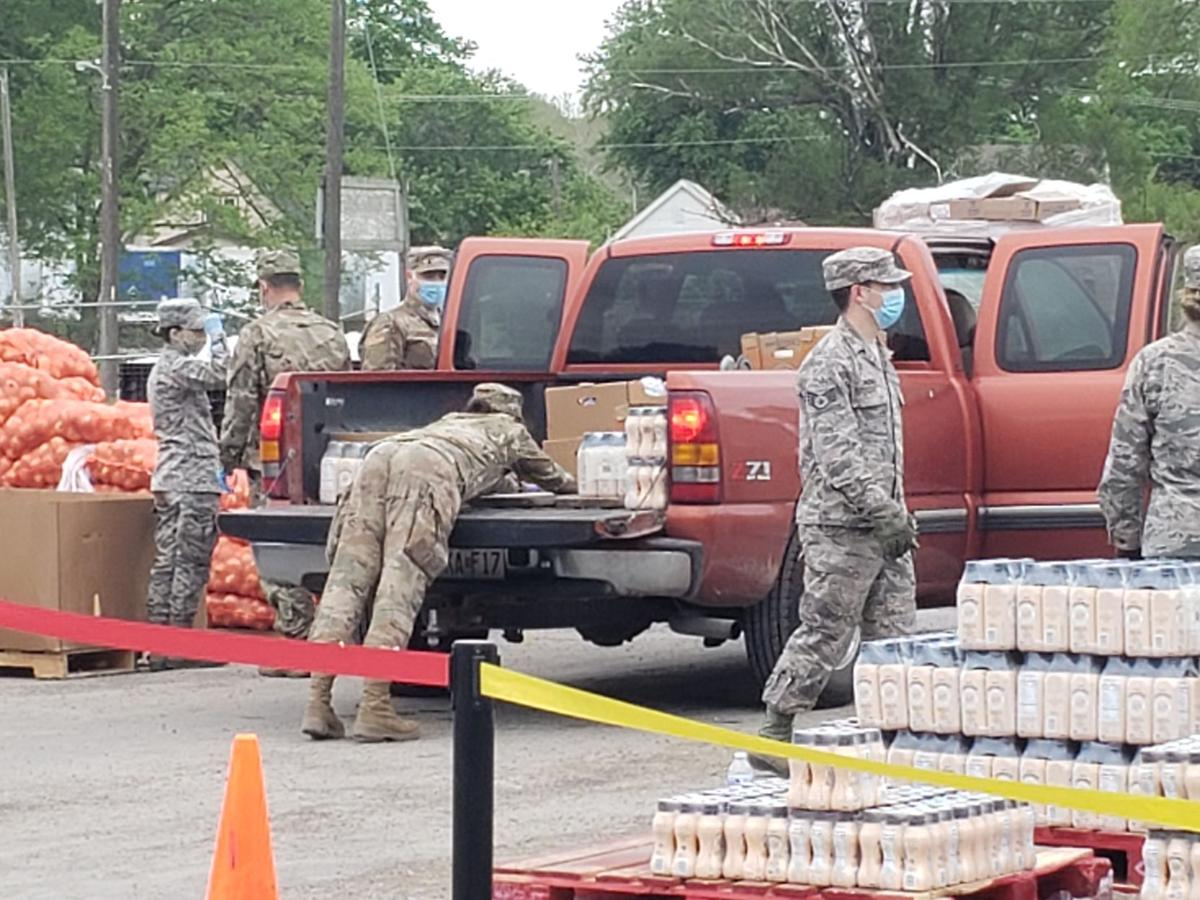 Food bank partners with national guard