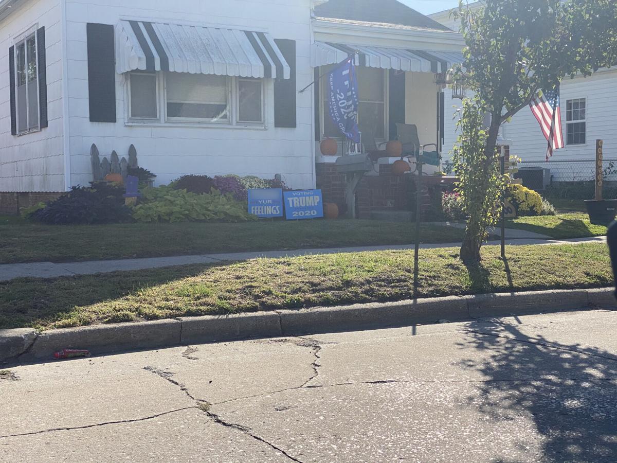 Original placement of yard sign