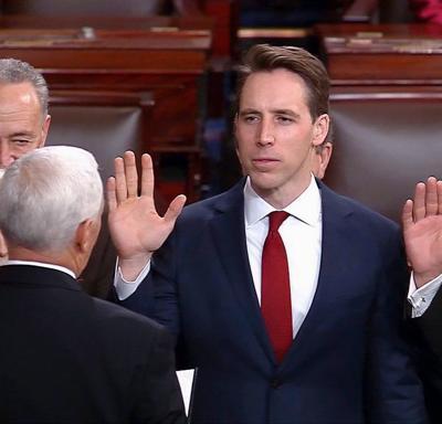 Josh Hawley takes oath of office