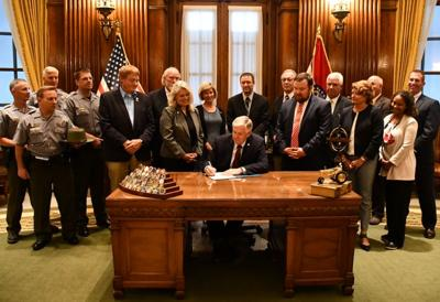 Gov. Parson signing poaching bill