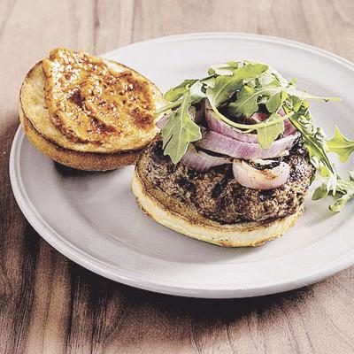 Food Column ATK Grilled Harissa Lamb Burgers