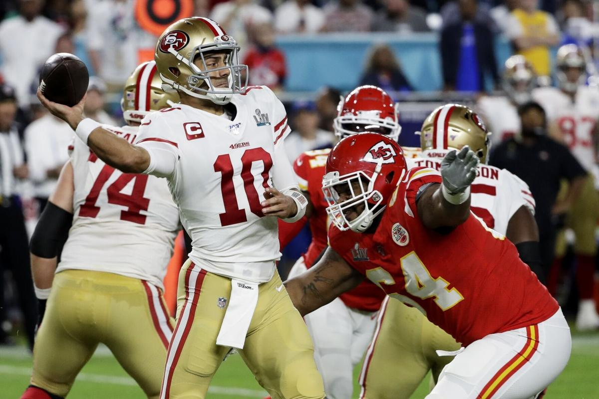 49ers Chiefs Super Bowl Football, Pennel
