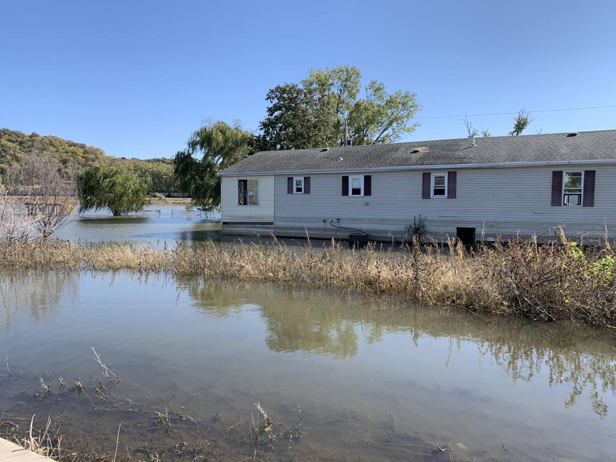 House in water photo