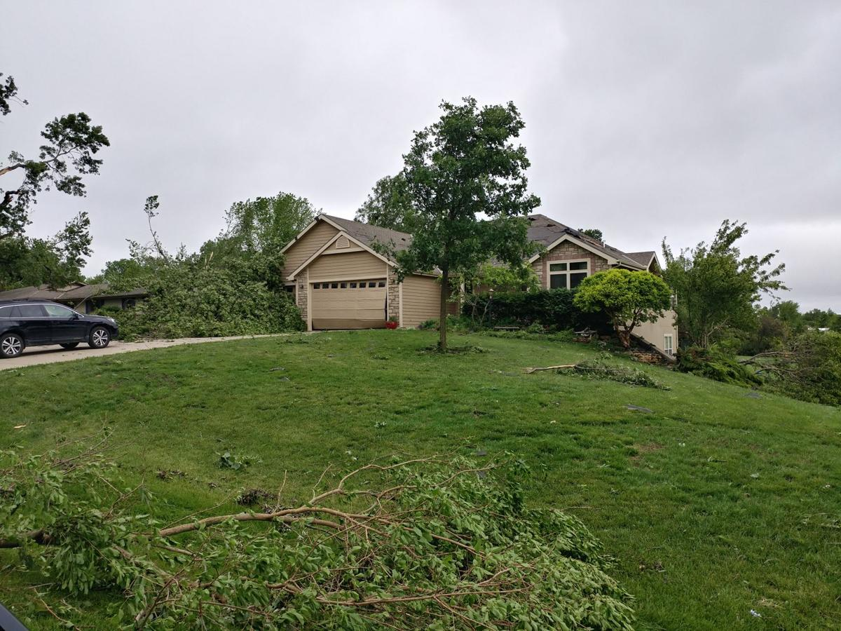 Storm damage in Kansas