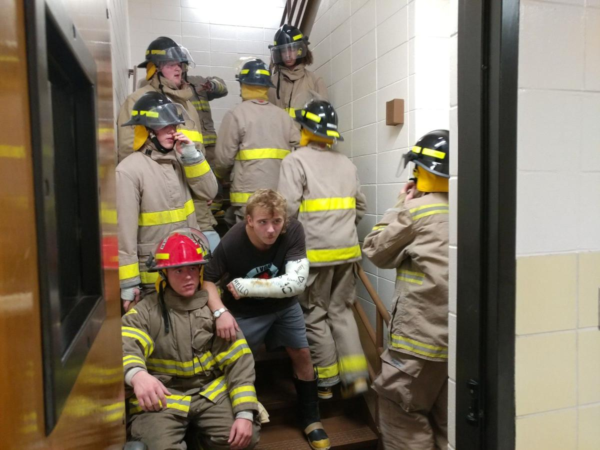 Firefighter stair climb