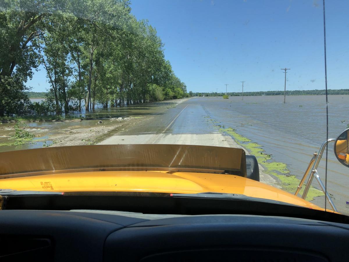 Flooding along U.S. Highway 59