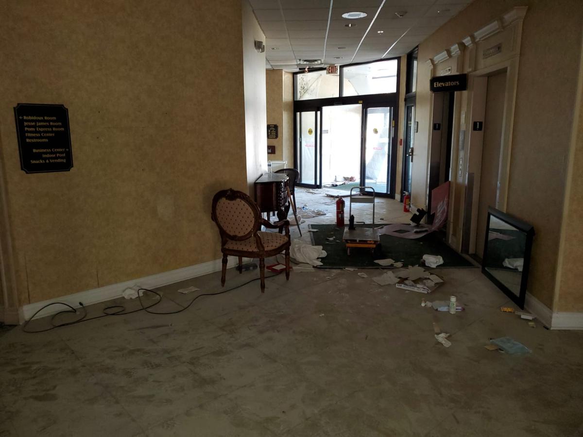 Red Lion Hotel damage