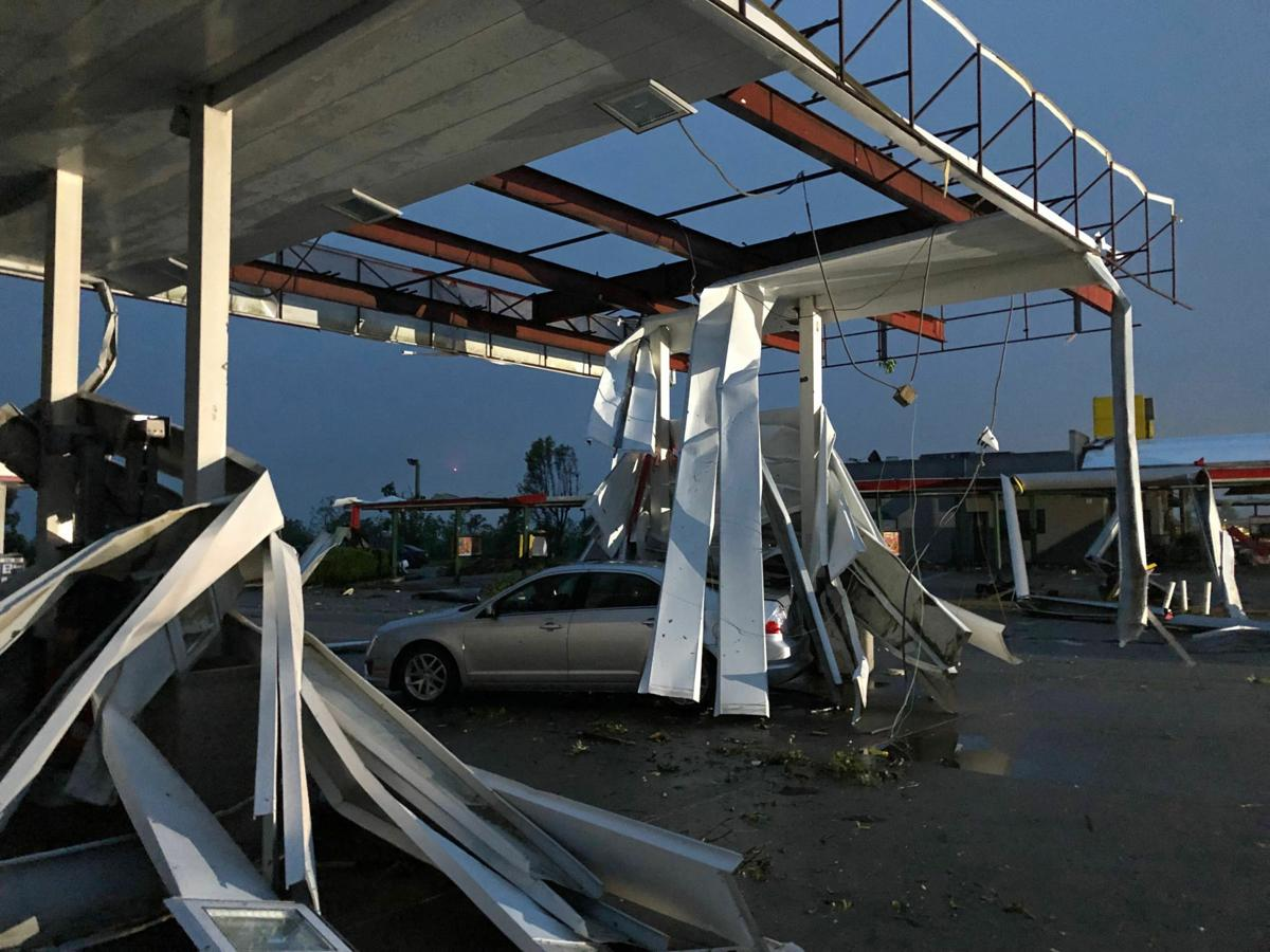 Tornado damage in Jeff City