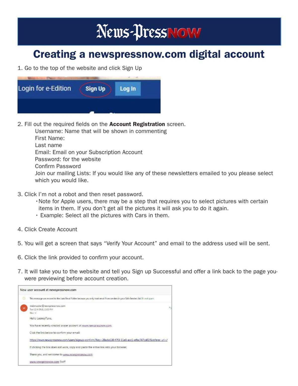 Creating a Digital Account
