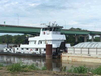 Barge loads at St. Joseph river port
