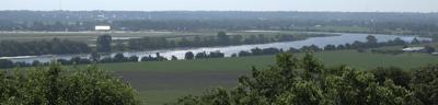 Missouri River view from Wathena, KS