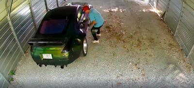 Car thefts security camera