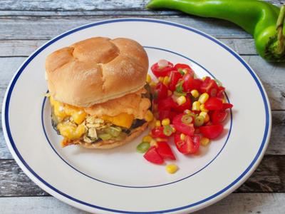 Food Column KitchenWise Green Chile Cheese Portobello Burger