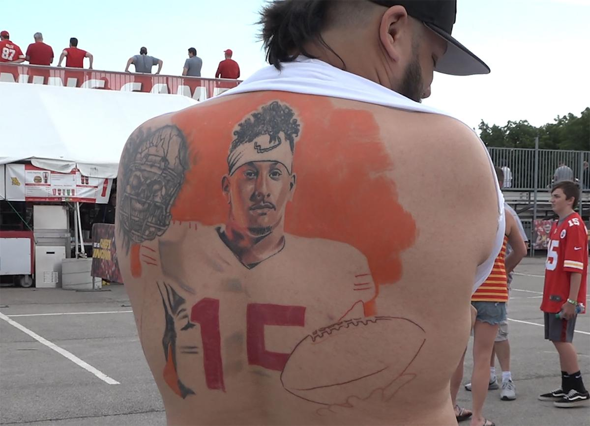 2019 Chiefs Training Camp Back tattoo