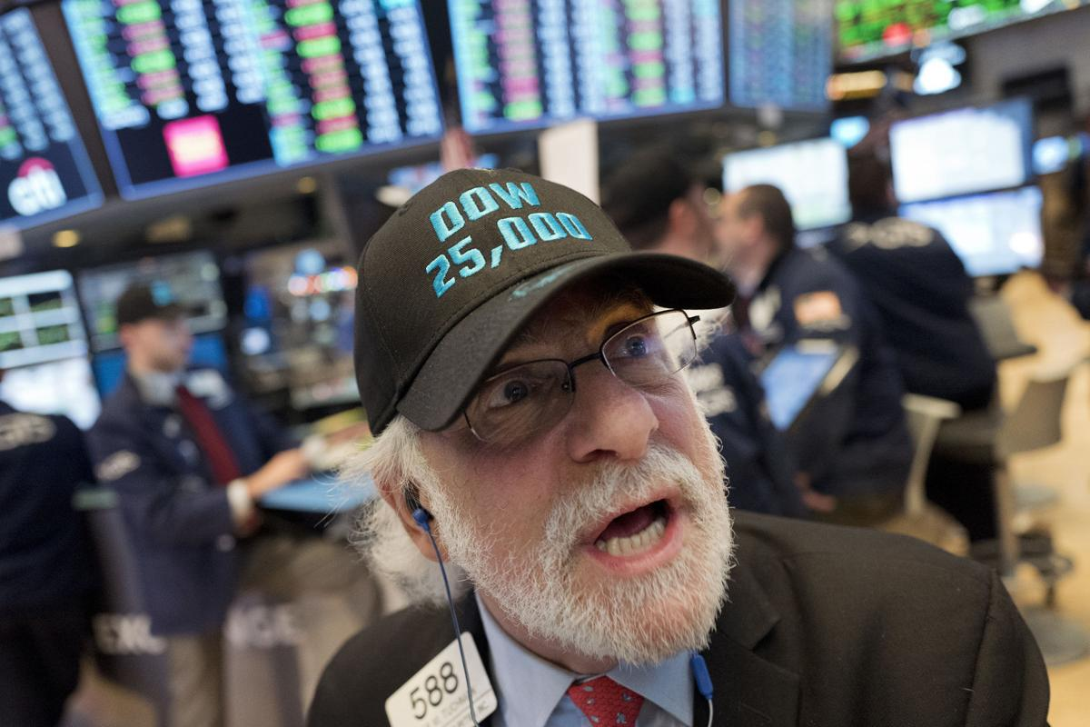 344120144f3 Financial Markets Wall Street. Buy Now. Stock trader Peter Tuchman wears a Dow  25
