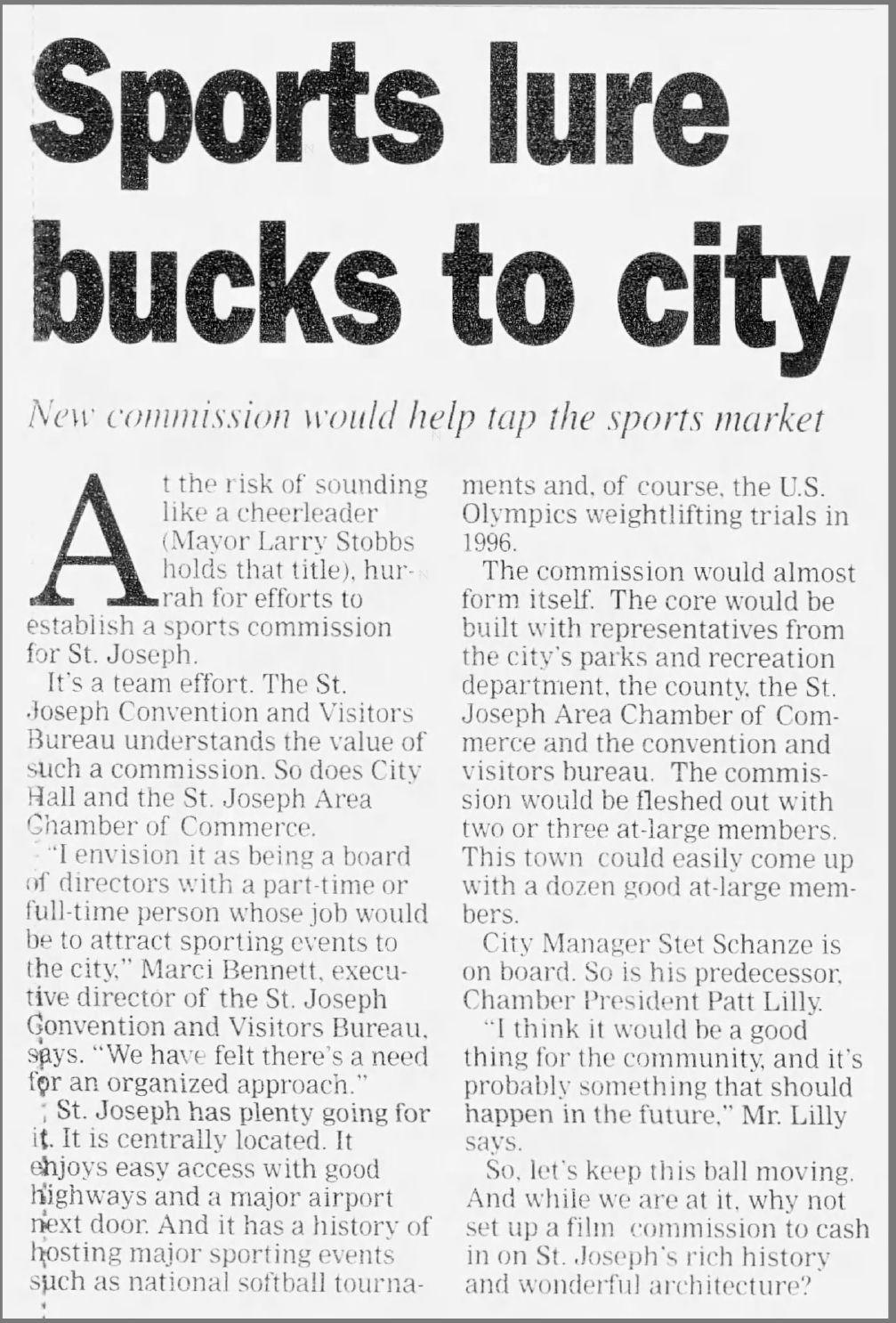 Sports lure bucks to city