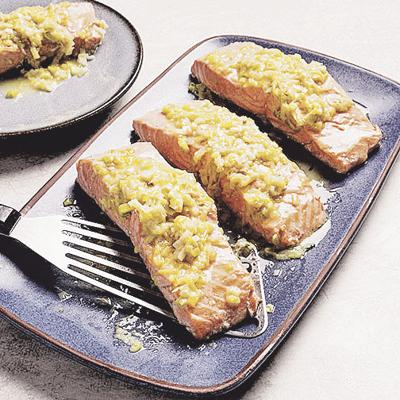Food Column ATK Salmon with Leeks and White Wine