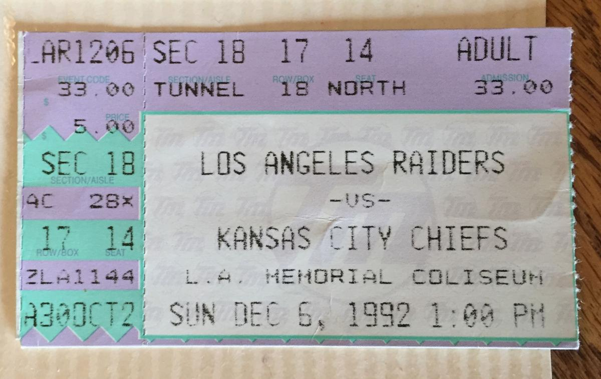 Ticket from 1992 game