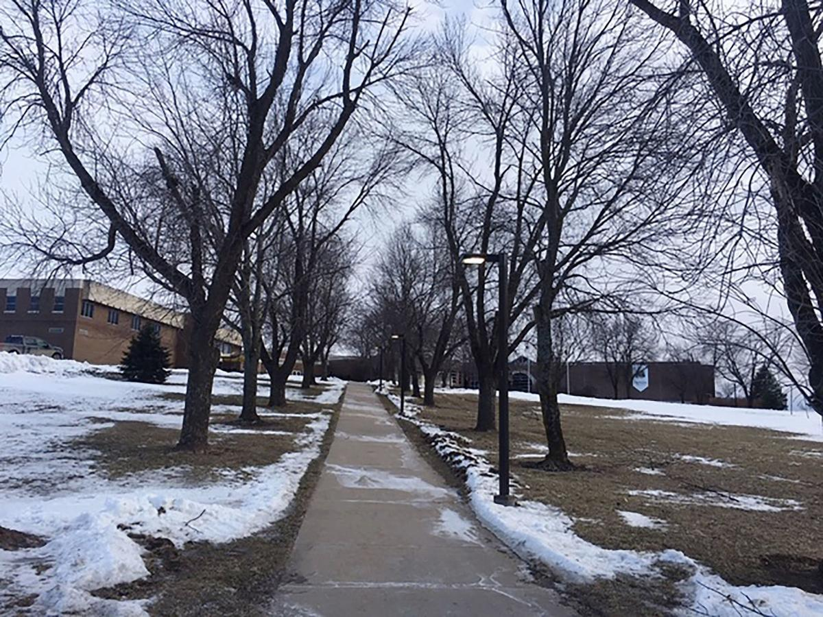 Missouri Western campus in winter