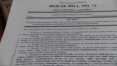 House bill proposed for device use while driving