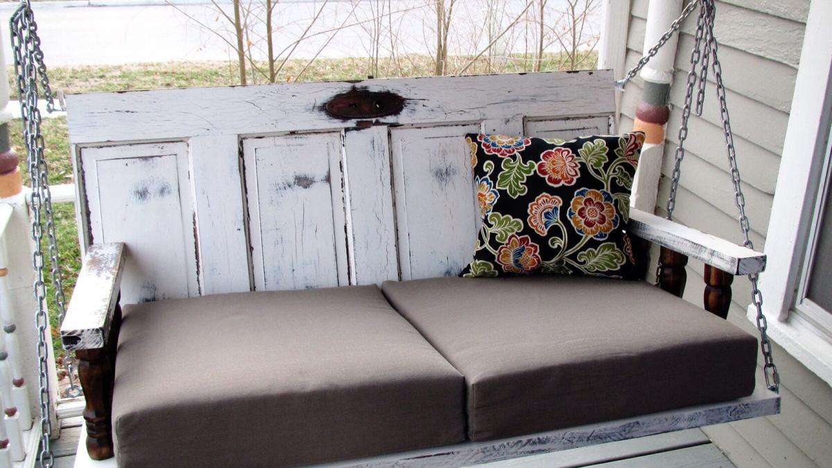 Woman creates her own unique porch swings