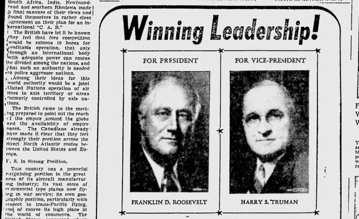 Ad for the FDR-Truman ticket