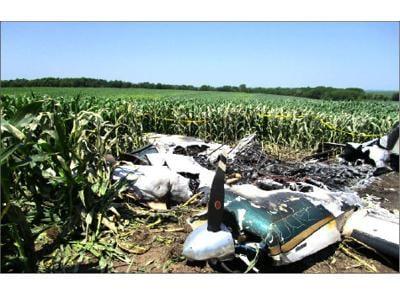 Plane crash image