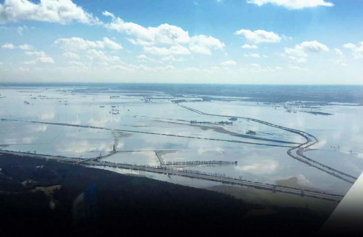 An aerial view taken Wednesday of the flooding in Northwest Missouri (copy)