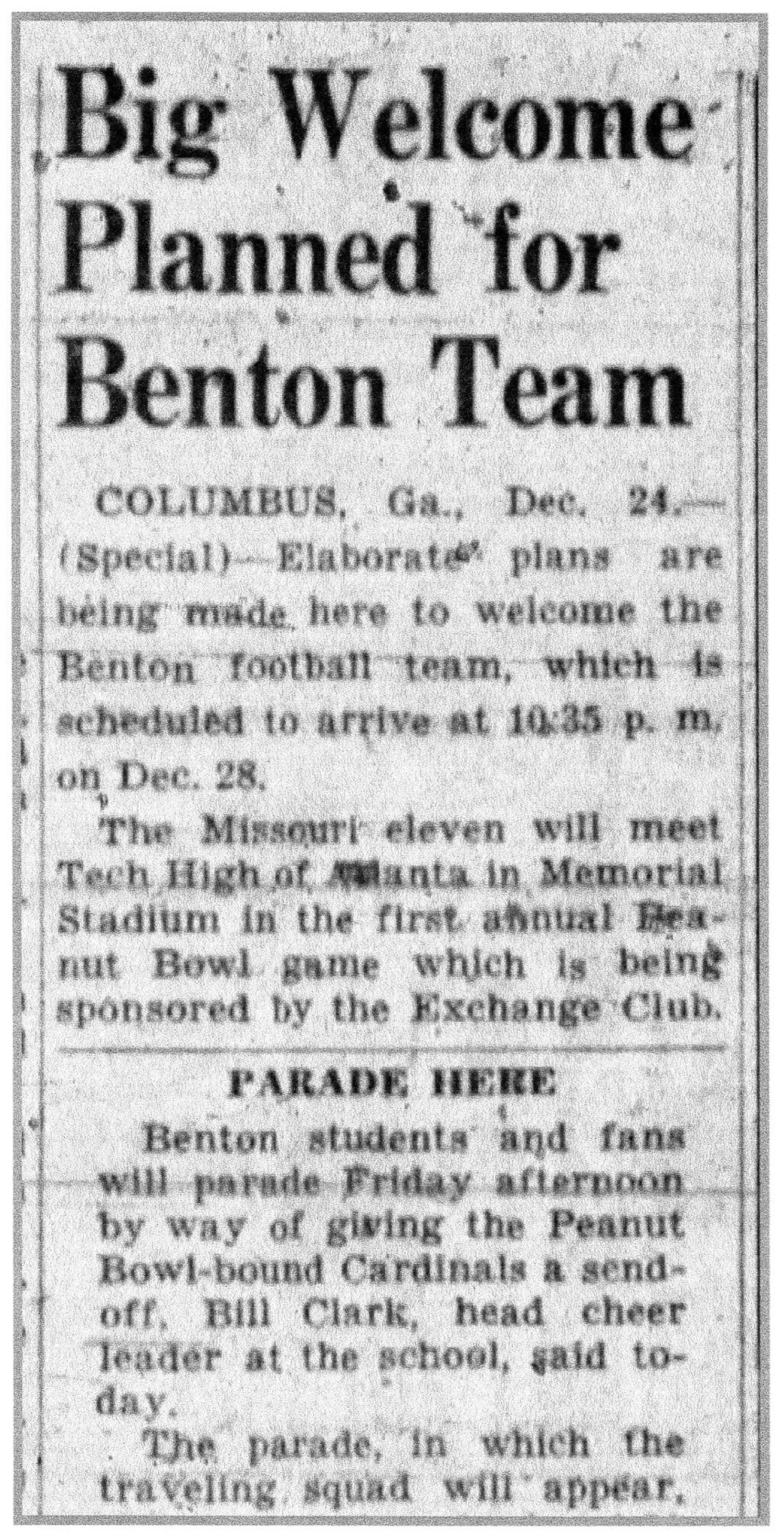 Benton football