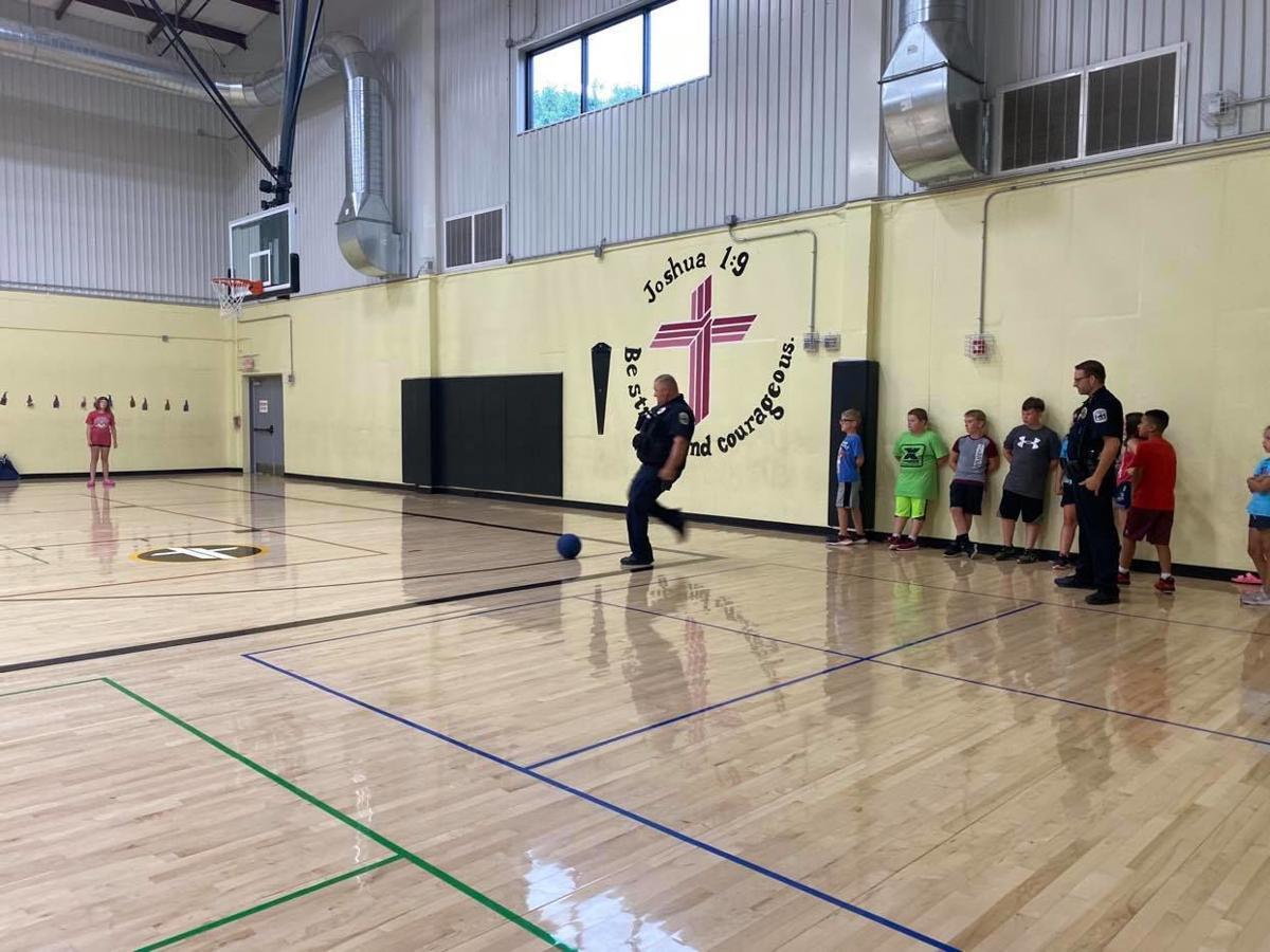 SJPD plays kickball with kids