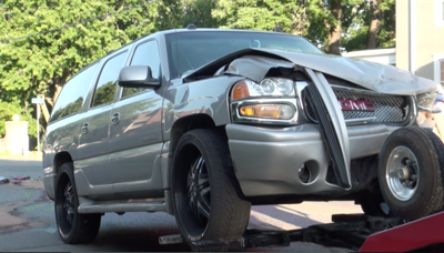 Crash on Frederick Ave. sends children to hospital